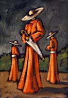 Quadro di Francesco Matera  Cardinali con l'ombrello