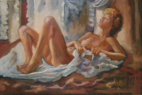 Art work by Luigi Pignataro Nudo - oil canvas
