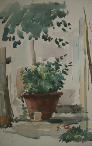 Quadro di Gino Tili Composizione - acquerello carta