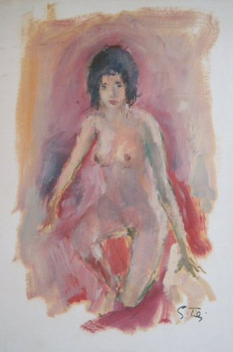 Art work by Gino Tili Nudo - oil paper