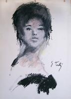 Quadro di Gino Tili  Giovane donna