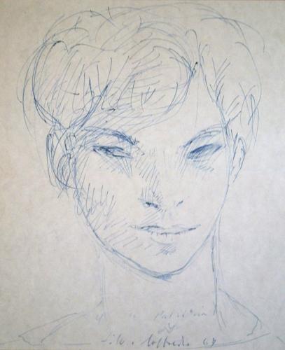 Quadro di Silvio Loffredo Ragazzo - penna biro carta