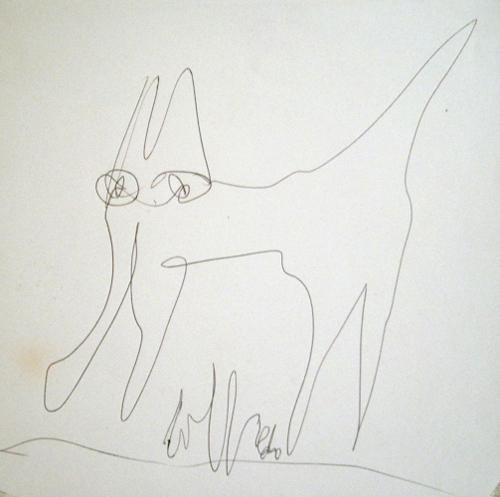 Quadro di Silvio Loffredo Gatto - penna biro carta