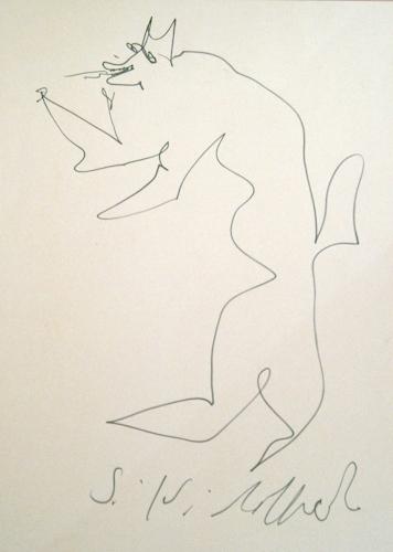 Art work by Silvio Loffredo Cane - marking pen paper