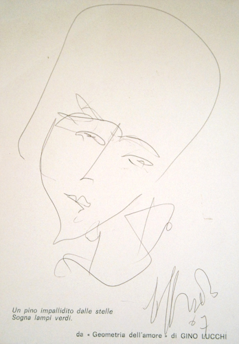 Quadro di Silvio Loffredo Volto - penna biro carta