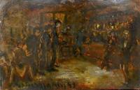 Quadro di Guido Borgianni - Osteria olio cartone
