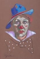 Quadro di Luigi Pignataro - Pagliaccio pastello carta