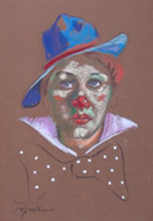 Quadro di Luigi Pignataro Pagliaccio - pastello carta