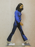Work of Andrea Tirinnanzi - George Harrison bifacial digital sculpting paper on table