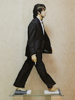 Work of Andrea Tirinnanzi - Paul McCartney bifacial digital sculpting paper on table