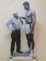 Work of Andrea Tirinnanzi - Muhammad Ali (Cassius Clay) bifacial digital sculpting paper on table