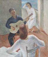Work of Edmondo Prestopino - La Canzone oil canvas