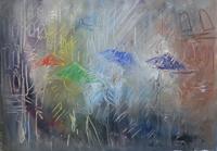 Quadro di Vanessa Katrin  Sotto la pioggia