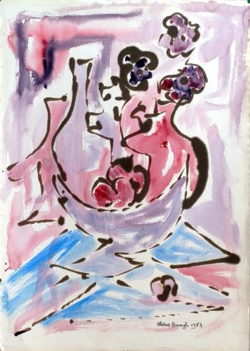 Quadro di Alvaro Baragli Composizione - acquerello carta