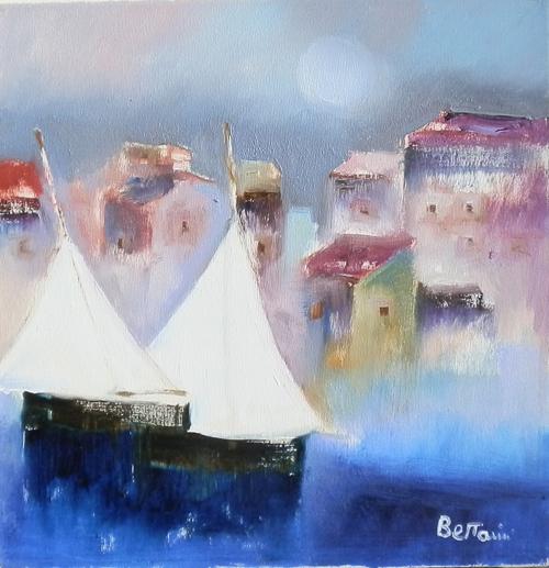 Art work by Lido Bettarini Vele di notte - oil canvas