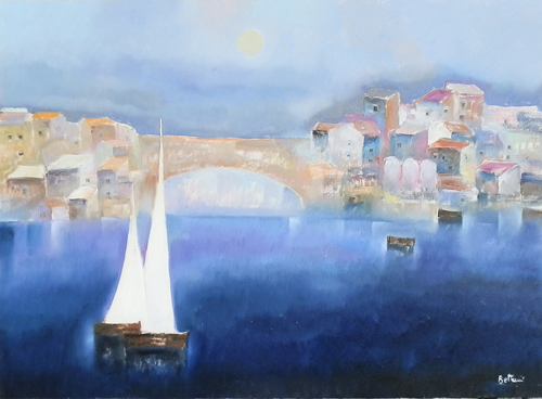Art work by Lido Bettarini Ponte di Firenze - oil canvas