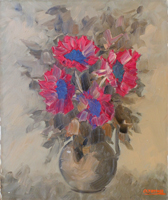 Work of Alviero Tatini - Fiori oil canvas