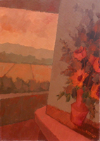 Work of Alviero Tatini - Davanti alla finestra oil canvas