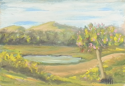 Quadro di  Sermi Paesaggio - olio tavola