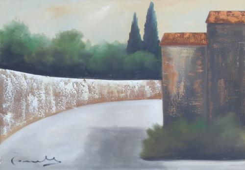Art work by Sauro Tasselli Paesaggio - oil canvas