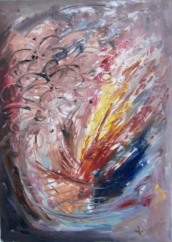 Quadro di Vanessa Katrin Fiori e vento - Pittori contemporanei galleria Firenze Art