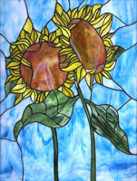 Work of  Anonimo - Girasoli acrylic glass