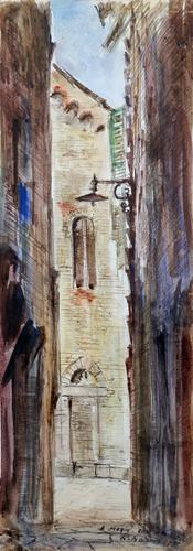 Quadro di Rodolfo Marma SS. Apostoli - acquerello carta