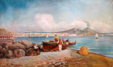 Quadro di Eduardo Brandi Marina - olio tela