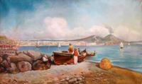 Quadro di Eduardo Brandi - Marina olio tela