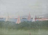 Quadro di Marcello Boccacci  Paesaggio di Porto Ercole