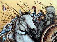 Quadro di Tommaso Andreini  Prima della battaglia