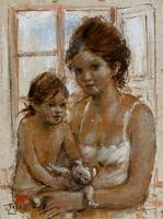 Quadro di Ermanno Toschi   Maternità