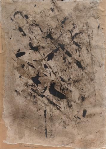 Quadro di firma Illeggibile Astratto - olio tela