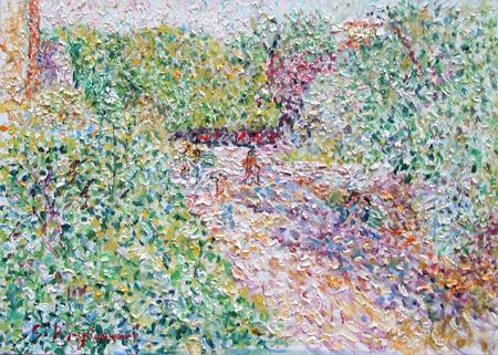 Quadro di Guido Borgianni Giardino - olio tela
