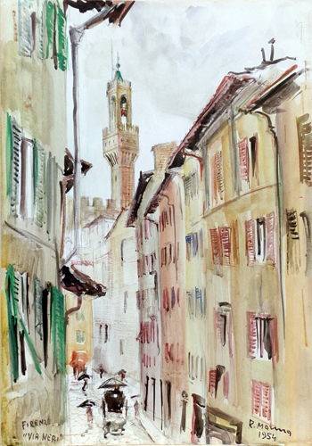 Art work by Rodolfo Marma Via Neri - watercolor paper