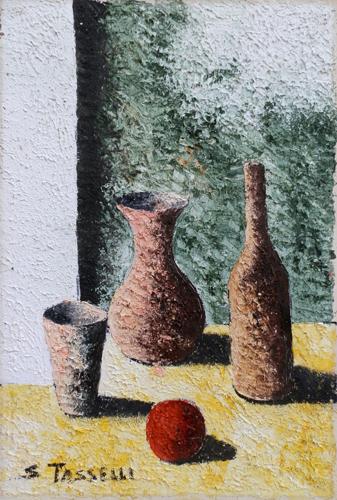 Art work by Sauro Tasselli Composizione - oil canvas