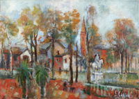 Quadro di Emanuele Cappello  Giardino di periferia