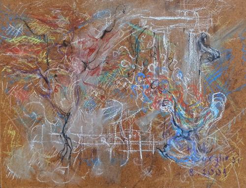 Art work by Bruno (Bob) Borghesi Composizione - pastel hardboard