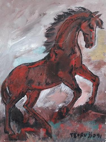 Quadro di Teo Russo Cavallo - tempera tavola