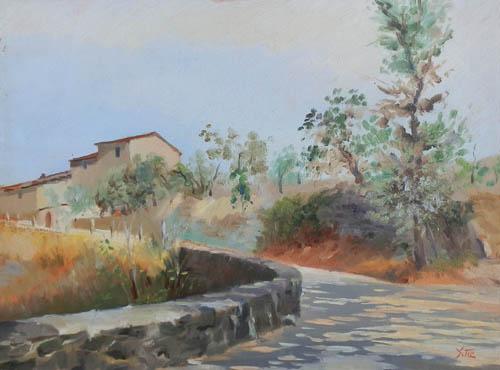 Quadro di Gino Tili Paesaggio - olio tavola