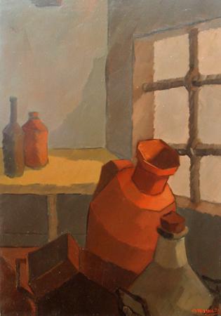 Quadro di Alviero Tatini Cantina - olio tela