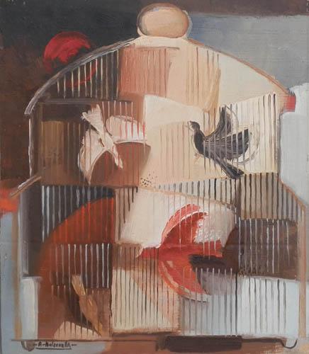 Quadro di Alberto Bolzonella Voglia di volare - olio tavola