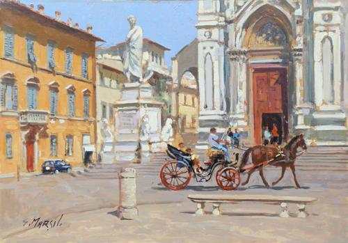 Quadro di Graziano Marsili Santa Croce - olio tavola