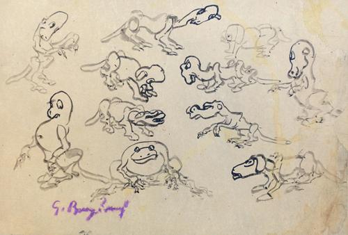 Quadro di Guido Borgianni Animali - china carta