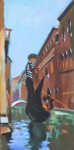 Quadro di Luigi Pignataro Venezia - olio faesite