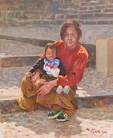 Work of Graziano Marsili  Donna con bambino