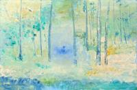 Quadro di Liù Venturi - Bosco surreale olio tavola