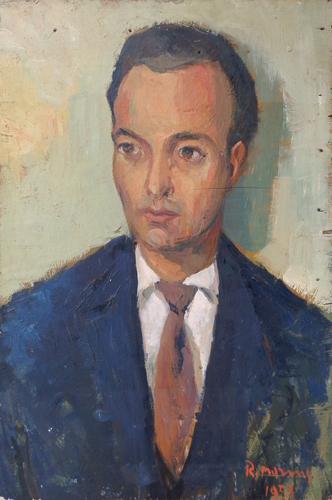 Quadro di Rodolfo Marma Ritratto - olio tavola