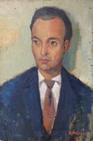 Quadro di Rodolfo Marma - Ritratto olio tavola