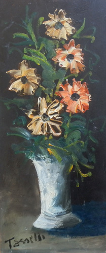 Art work by Sauro Tasselli Fiori - oil hardboard